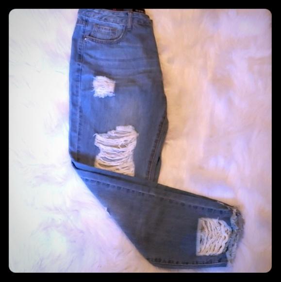 Fashion Nova Denim - Fashion Nova Distressed Jeans